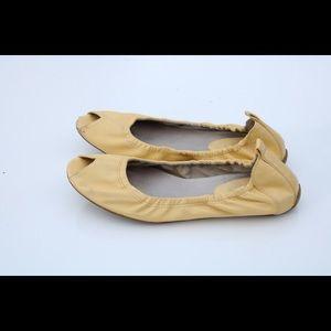 Cole Haan peep toe flats